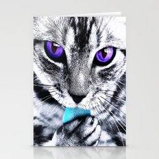 Purple Eyes Cat Stationery Cards
