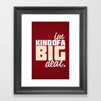 Anchorman Quote Framed Art Print