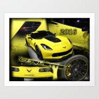 2016 Corvette Art Print
