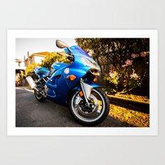 Blue Crush Art Print