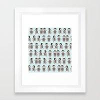 Just penguins Framed Art Print