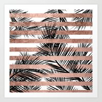 Trendy Tropical Palm Tre… Art Print