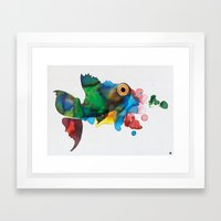 colorful fish Framed Art Print