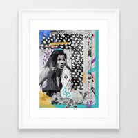 KATE MOSS TRIBE Framed Art Print