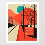 Art Print featuring Twin Peaks by Jazzberry Blue