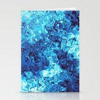 Blue Glass Stationery Cards