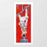 Monkey Hatter Art Print