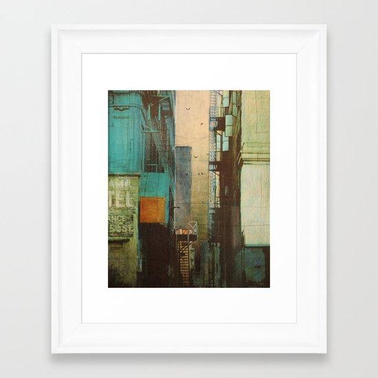 ESCAPE ROUTE Framed Art Print