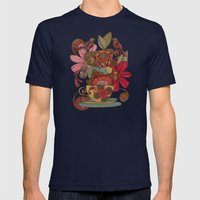 Good Morning Mens Fitted Tee Navy SMALL