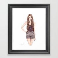 The New Girl Framed Art Print