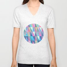 Candy Triangles Unisex V-Neck