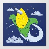 Uni-Corn Canvas Print