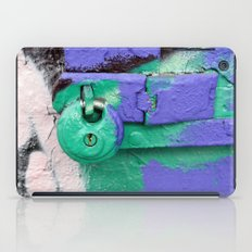Purple and green lock iPad Case