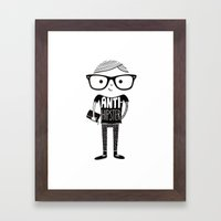 Anti-hipster Framed Art Print