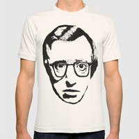 Woody Allen Mens Fitted Tee Natural SMALL