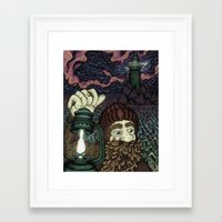 North or South, the Sea is Still the Sea Framed Art Print