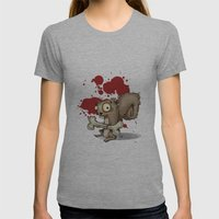 Le Wild Squirrel Womens Fitted Tee Athletic Grey SMALL