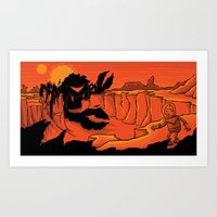 The Beast of Shadow Valley Art Print