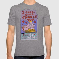 The Simpsons: I Choo-cho… Mens Fitted Tee Tri-Grey SMALL