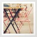 Tin Chairs (vintage metallic chairs) Art Print