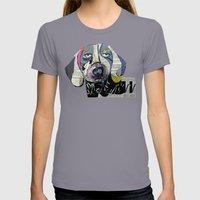 Dachshund  Womens Fitted Tee Slate SMALL