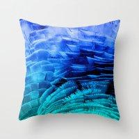 RUFFLED BLUE Throw Pillow