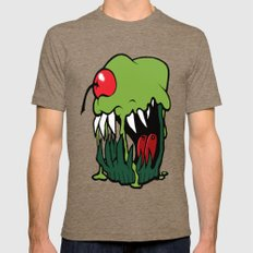 zombie cupcake Mens Fitted Tee Tri-Coffee SMALL