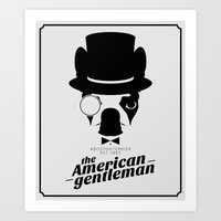 Boston Terrier: The American Gentleman. Art Print