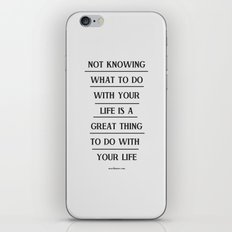 Notknowing iPhone & iPod Skin