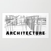 Architecture - White Art Print