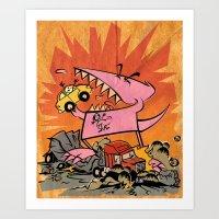 Dennis Dinosaurs's Delig… Art Print