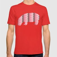 Pink  Chevron  Mens Fitted Tee Red SMALL