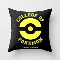 COLLEGE OF POKEMON Throw Pillow