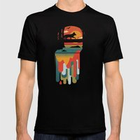 Great Falls Mens Fitted Tee Black SMALL