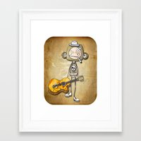 guitar chimp Framed Art Print