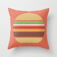 Meal Time (clock#17) Throw Pillow