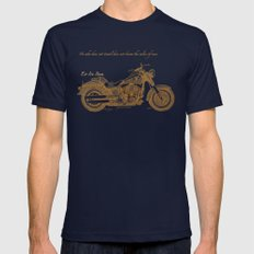 Travel Plan Mens Fitted Tee Navy SMALL