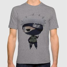 Kakashi Chibi Mens Fitted Tee Athletic Grey SMALL