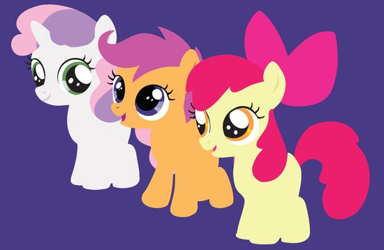 Sweetie Belle - Scootaloo - Apple Bloom - CMC Art Print