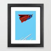 Man Up (blue steel variant) Framed Art Print