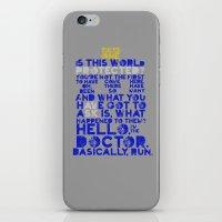 Basically, Run (Doctor W… iPhone & iPod Skin