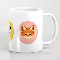 Hipster Badger: Gold Mug