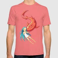 Red Whale Mens Fitted Tee Pomegranate SMALL