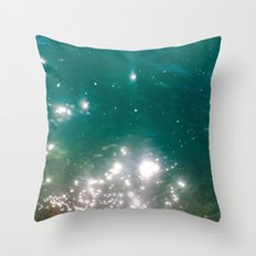 The color of the sea Throw Pillow