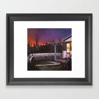 Pink House VACANCY Zine Framed Art Print