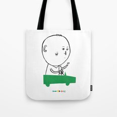 A man in a car Tote Bag