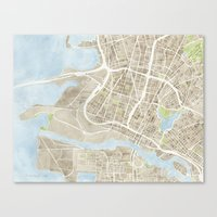 Oakland California Water… Canvas Print