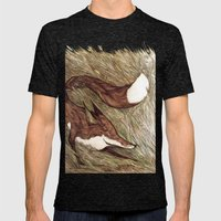 La Ruse du renard (The Sneaky Red Fox) Mens Fitted Tee Tri-Black SMALL