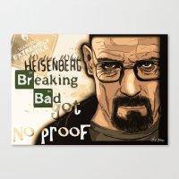 W. H. White Breaking Bad Canvas Print