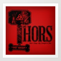 Thors Pet Shop Art Print
